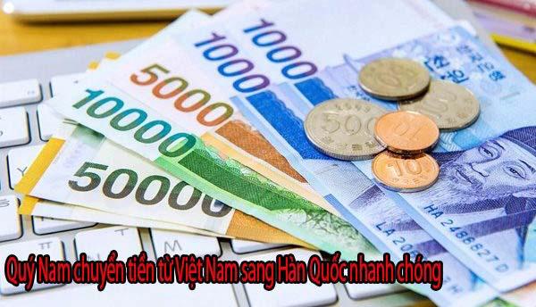 Chuyển tiền sang Hàn Quốc