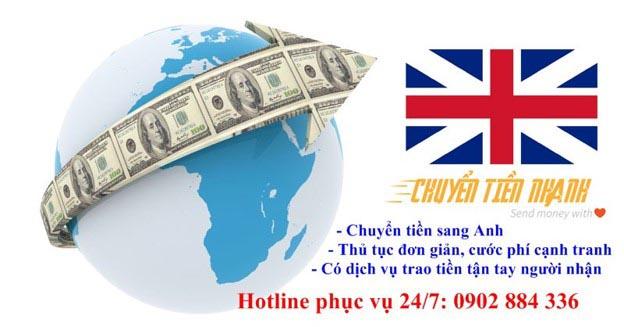 Dịch vụ chuyển tiền sang Anh
