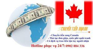 Dịch vụ chuyển tiền sang Canada