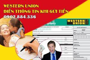 Người gửi cần điền đầy đủ các thông tin để gửi tiền