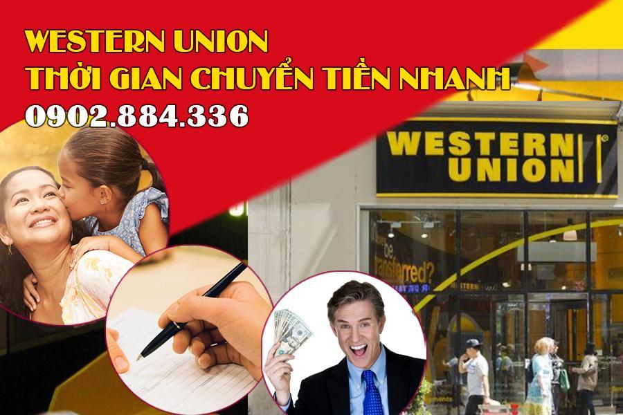 Western Union có thời gian chuyển tiền cực nhanh chóng