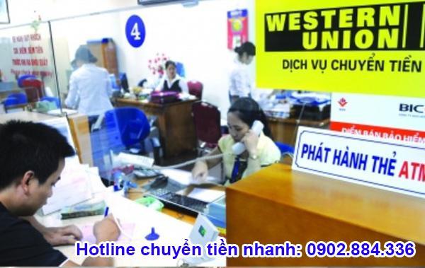 Các đại lý của Western Union đặt ở rất nhiều ngân hàng